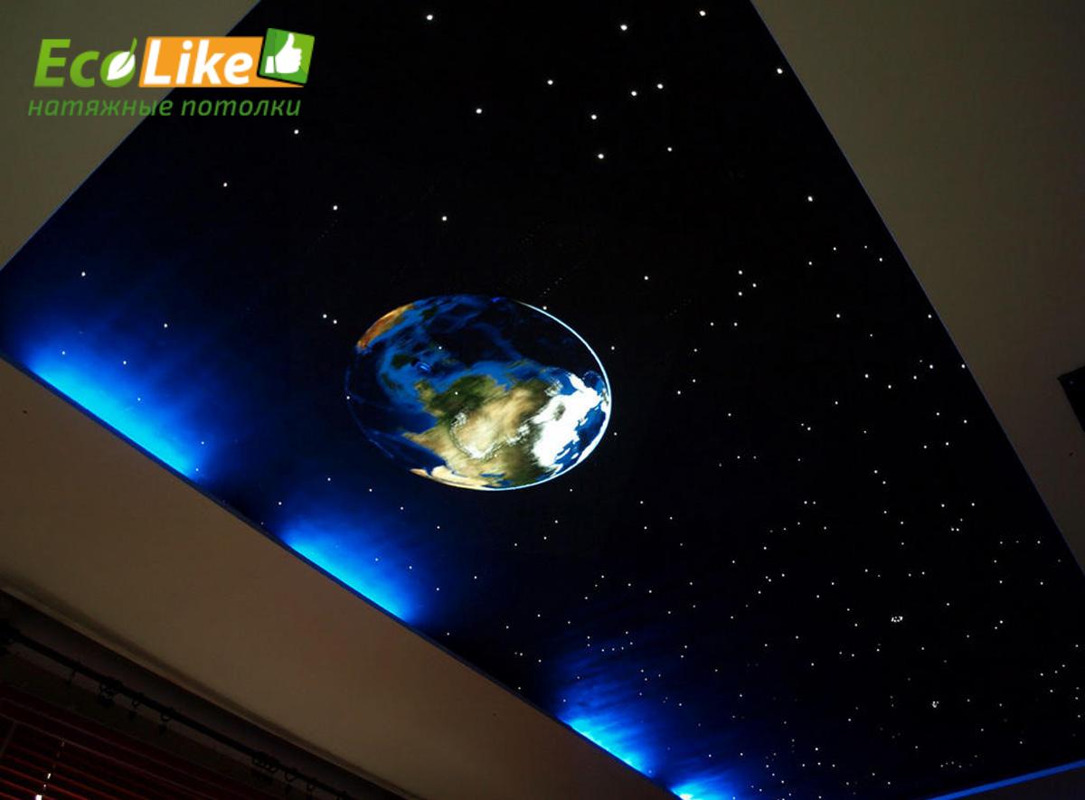 Как сделать на потолке звездное небо своими