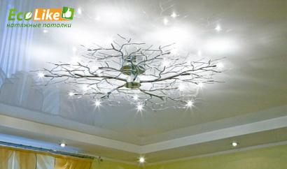 Эффект отражения глянцевого потолка