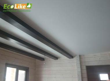 Матовый натяжной потолок в частном доме