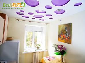 Перфорированный натяжной потолок на кухне фото