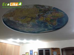 Тканевый натяжной потолок с фотопечатью фото
