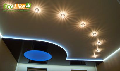 Светодиодная лента со светодиодными светильниками