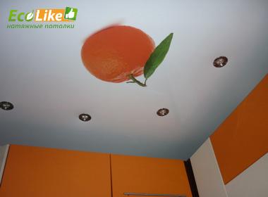 Сатиновый потолок натяжной с фотопечатью
