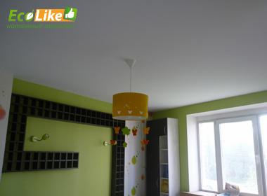 Белый тканевый потолок на кухню в Великом Новгороде