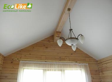 Тканевый потолок в частном доме